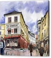 Paris Montmartre  Canvas Print