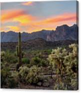 Pastel Desert Skies  Canvas Print