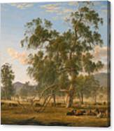 Patterdale Landscape With Cattle Canvas Print