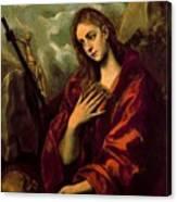 Penitent Magdalene Canvas Print