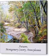 Pennsylvania Autumn Canvas Print