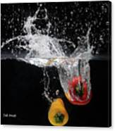2 Pepper Splash Canvas Print