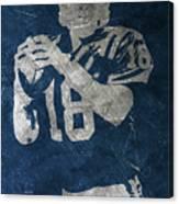 Peyton Manning Colts Canvas Print