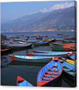 39 in Designart TAP15697-39-32  Row of Blue Pokhara Lake Boat Blanket D/écor Art for Home and Office Wall Tapestry Medium Created On Lightweight Polyester Fabric x 32 in