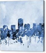 Phoenix Skyline-blue Canvas Print