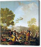 Picnic On The Banks Of The Manzanares Canvas Print