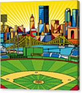 Pnc Park Gold Sky Canvas Print