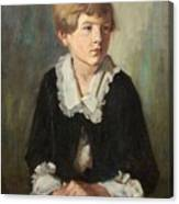 Portrait Of A Seated Child Canvas Print