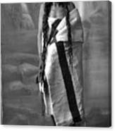 Portrait Of Cree Indian Warrior Canvas Print
