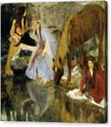 Portrait Of Mlle Fiocre In The Ballet  Canvas Print