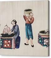Portraying The Chinese Tea Industry Canvas Print