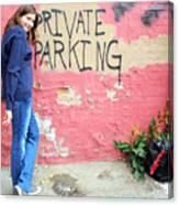 Private Parking. Canvas Print
