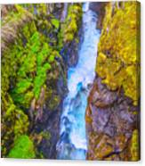 Pyrenees Waterfall Canvas Print