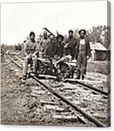 Railroad Workers Canvas Print