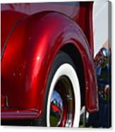 Red Chevy Pickup Fender Canvas Print