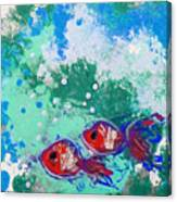 2 Red Fish Canvas Print