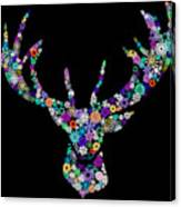 Reindeer Design By Snowflakes Canvas Print