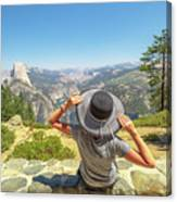 Relaxing At Glacier Point Canvas Print