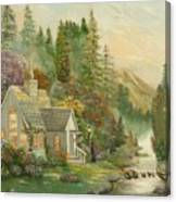 Reproduction Of Thomas Kinkade Canvas Print