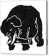 Republican Elephant, 1874 Canvas Print