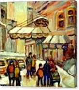 Ritz Carlton Montreal Streetscene Canvas Print