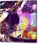 Robin Erithacus Rubecula Bird  Canvas Print