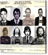 Rock and Roll's Most Wanted Canvas Print