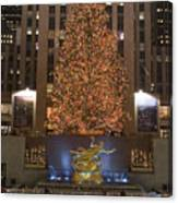 Rockefeller Center And The Famous Canvas Print
