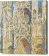 Rouen Cathedral, West Facade, Sunlight Canvas Print