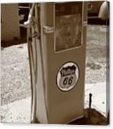Route 66 Gas Pump Canvas Print