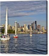 Sailing To Seattle Canvas Print