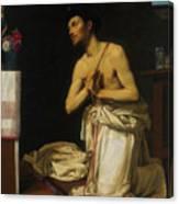 Saint Dominic In Penitence Canvas Print