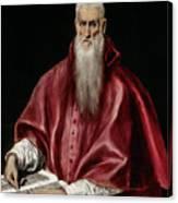 Saint Jerome As Scholar Canvas Print