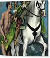 Saint Martin And The Beggar Canvas Print