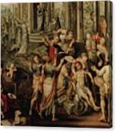 Saint Paul And Saint Barnabas At Lystra Canvas Print