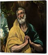 Saint Peter In Tears Canvas Print