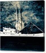 Salty Shrimp Boat Canvas Print