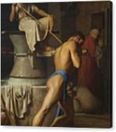 Samson And The Philistines Canvas Print