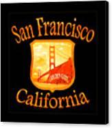 San Francisco California Golden Gate Design Canvas Print