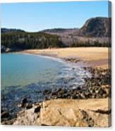 Sand Beach Acadia National Park Canvas Print