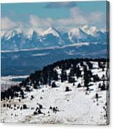 Sangre De Cristo Mountains In Winter Canvas Print