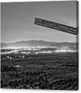 Santa Fe, Nm, From Bonanza Creek Ranch, Illuminated By The Moon, Canvas Print