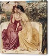Sappho And Erinna In A Garden At Mytilene Canvas Print