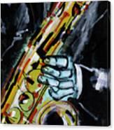 Sax Co-notations Canvas Print