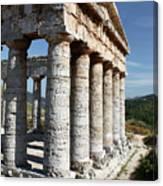 Segesta Greek Temple In Sicily, Italy Canvas Print