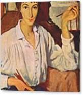 Self-portrait Zinaida Serebryakova Canvas Print
