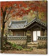 Seonamsa In Autumn Canvas Print