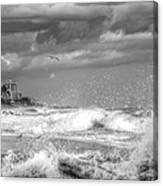 Serious Ocean Canvas Print