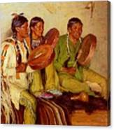 Sharp Joseph Henry Hunting Song Taos Indians Joseph Henry Sharp Canvas Print