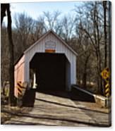 Sheards Mill Covered Bridge - Bucks County Pa Canvas Print